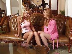 Lesbian, Blonde, MILF, Foot Fetish
