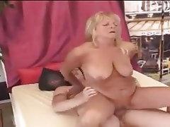 Hairy, Granny, Cum in mouth, Dildo