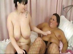BBW, Big Boobs, Lesbian, Mature